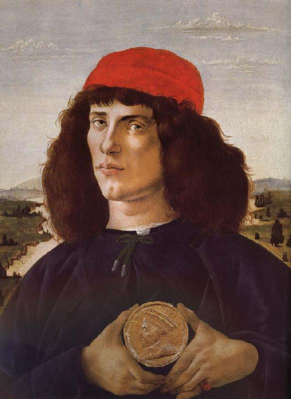 Sandro Botticelli Medici portrait of the man card