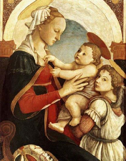 Sandro Botticelli Madonna and Child with an Angel