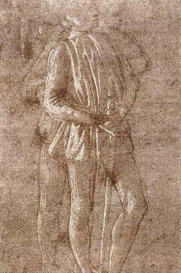 Sandro Botticelli Study of two standing figures