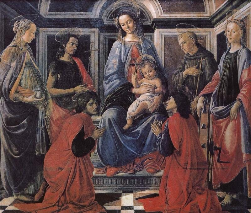 Sandro Botticelli Son with the people of Our Lady of Latter-day Saints
