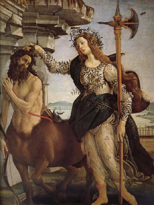 Sandro Botticelli Minerva and the Orc