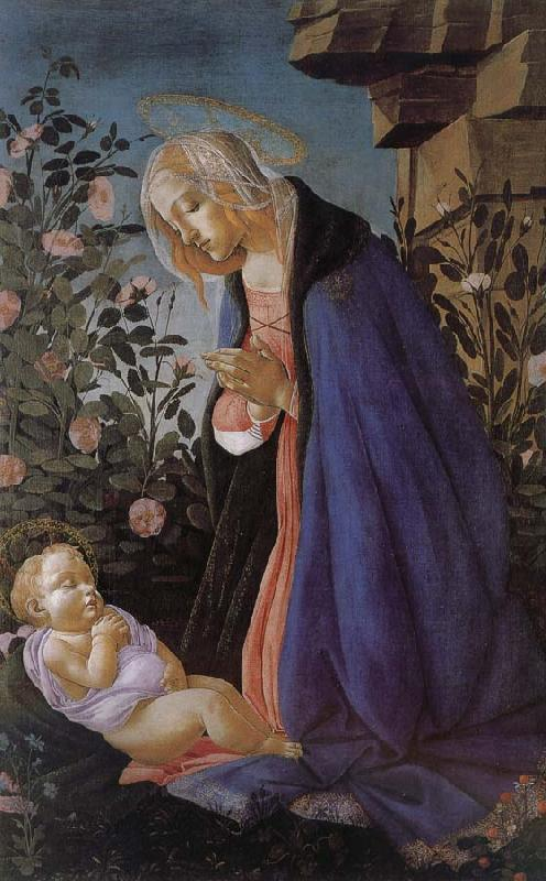 Sandro Botticelli Our Lady of the Son and the sleeping