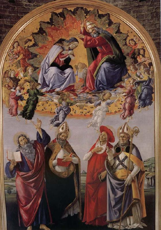 Sandro Botticelli Our Lady of Angels and the public