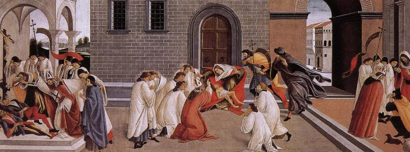 Sandro Botticelli Nobilo St. Maas three miracles