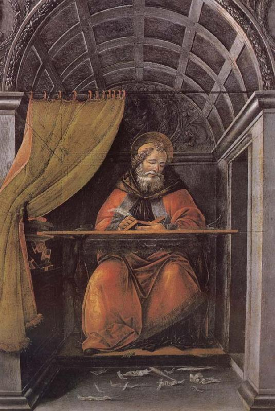 Sandro Botticelli Writing characters of St. Sting
