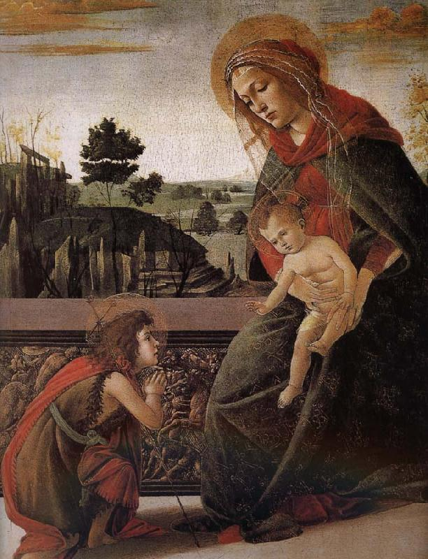 Sandro Botticelli Our Lady of John son and salute