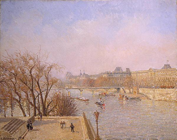 Camille Pissarro The Louvre: Morning