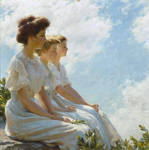 Charles Courtney Curran On the Heights