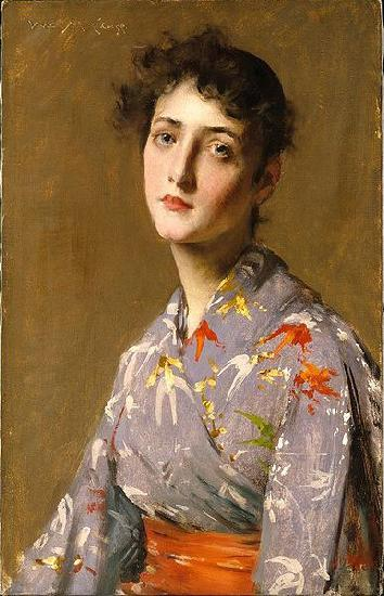 William Merritt Chase Girl in a Japanese Costume