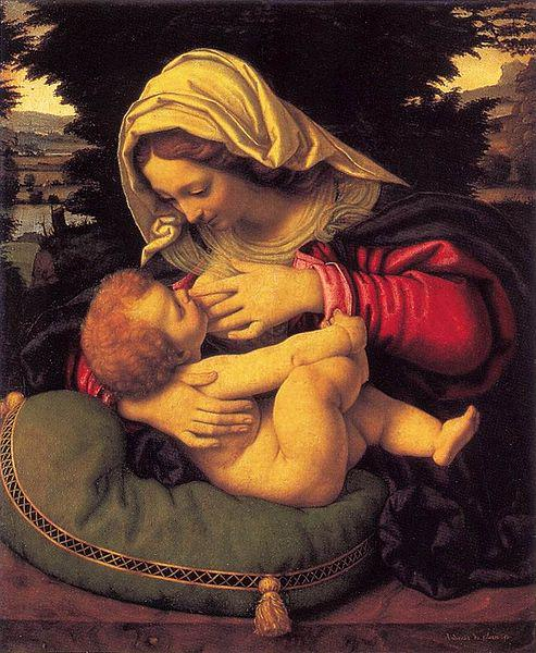 Andrea Solario Madonna of the Green Cushion