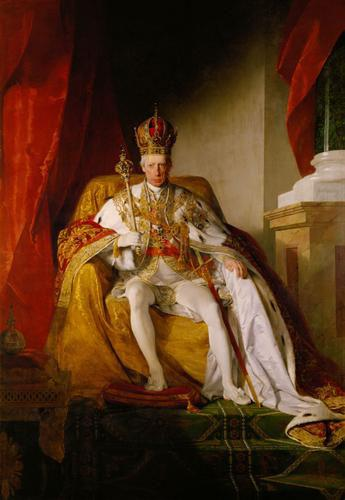 Friedrich von Amerling Emperor Franz I. of Austria wearing the Austrians imperial robes