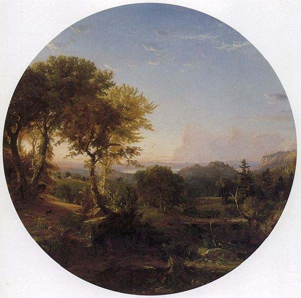 Jasper Francis Cropsey Green Mountain Scenery,