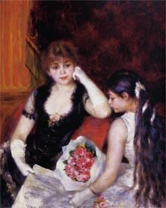 Pierre-Auguste Renoir At the Concert a Box at the Opera