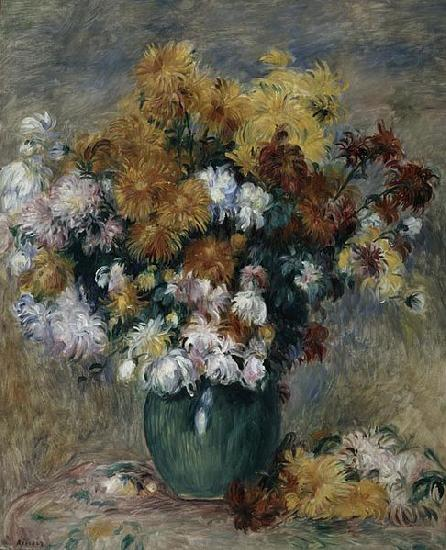 Pierre-Auguste Renoir Bouquet of Chrysanthemums