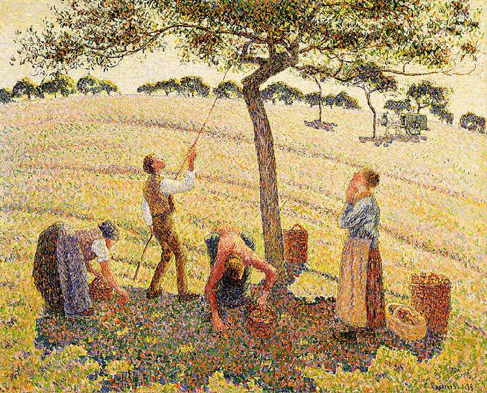 Camille Pissarro Apple harvest at Eragny