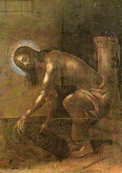 Diego de Carpio Christ gathering his clothes after the Flagellation
