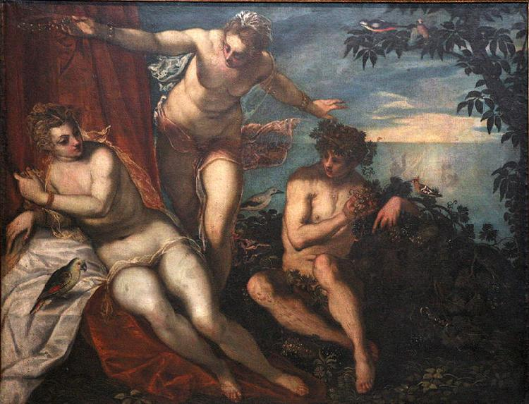 Domenico Tintoretto Bacchus, Ariadne and Venus