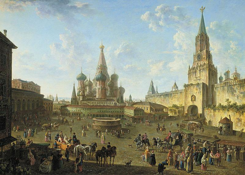 Fedor Yakovlevich Alekseev Red Square in Moscow