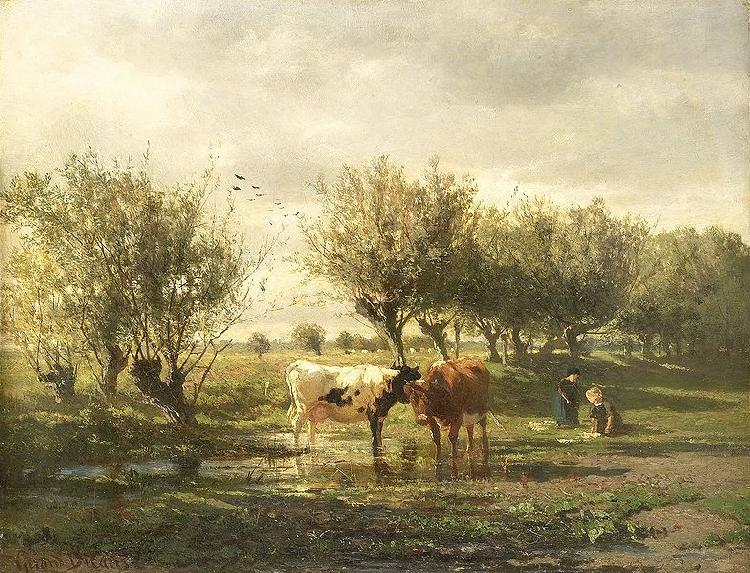 Gerard Bilders Cows at a pond