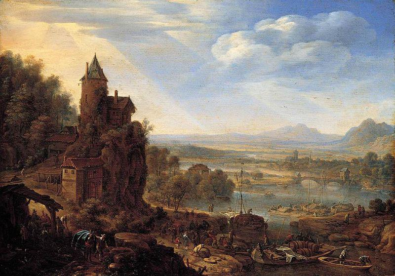 Herman Saftleven An Extensive Rhenish River Landscape
