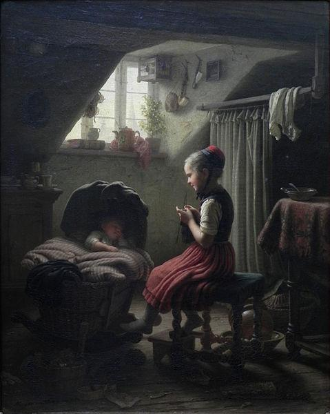 Johann Georg Meyer Little Housewife