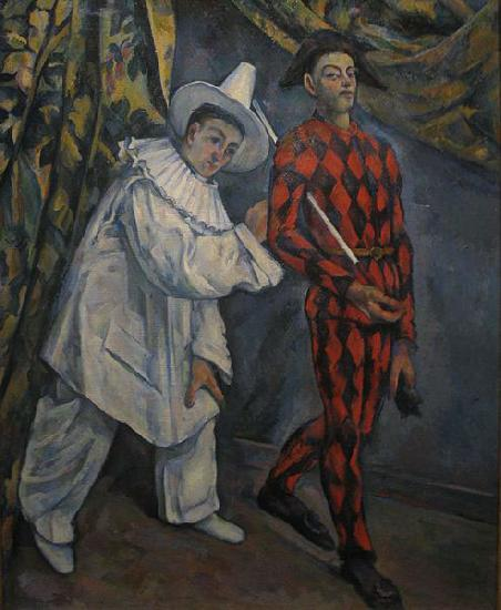Paul Cezanne Pierot and Harlequin