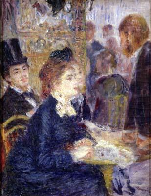 Pierre Auguste Renoir At the Cafe