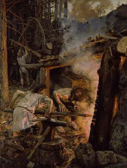 Akseli Gallen-Kallela Forging of the Sampo