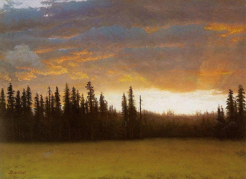 Albert Bierstadt California Sunset