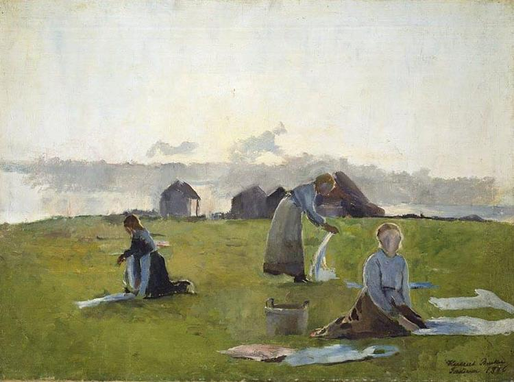 Harriet Backer Drying clothes