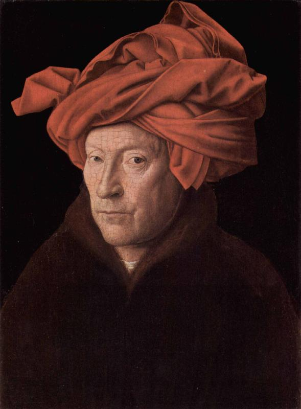 Jan Van Eyck Portrait of a Man