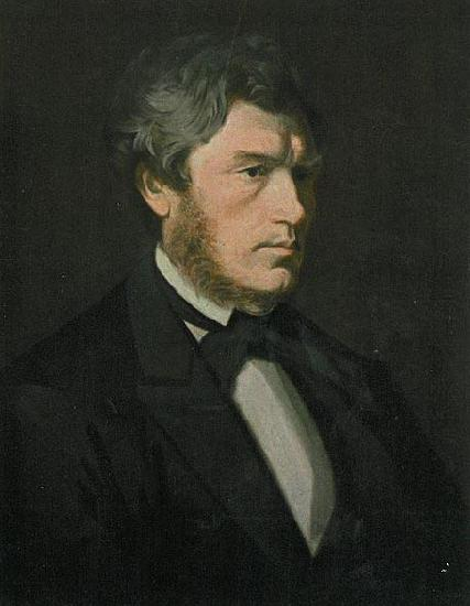 Knud Bergslien Painting of Norwegian writer Carl Fredrik Diriks.
