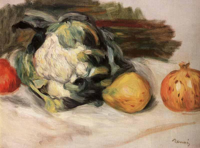 Pierre-Auguste Renoir Cauliflower and pomegranates