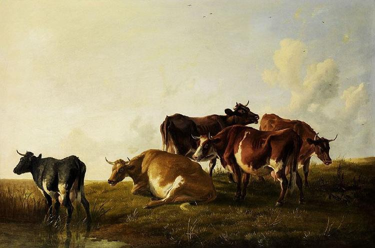 Thomas sidney cooper,R.A. Cattle in the pasture.
