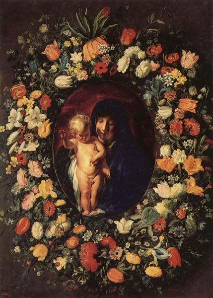 Jacob Jordaens Madonna and  Child Wreathed wih Flowers