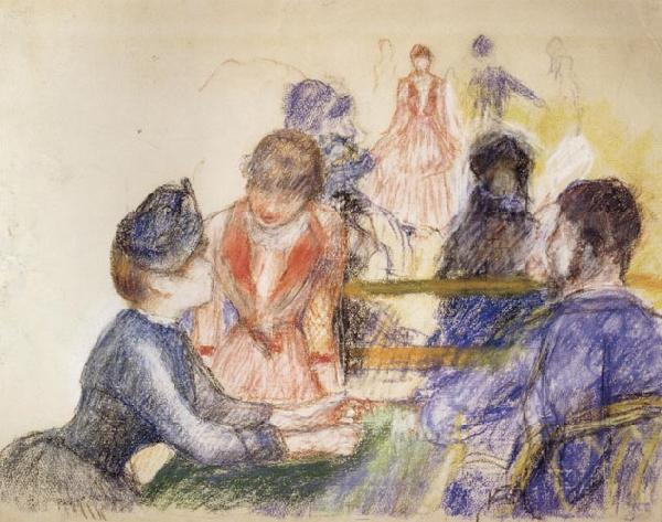 Pierre Renoir At the Moulin de la Galette