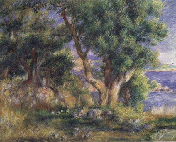 Pierre Renoir Landscape on the Coast near Menton