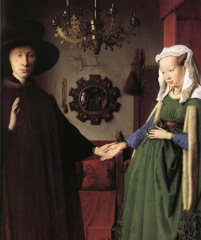 Jan Van Eyck Details of Portrait of Giovanni Arnolfini and His Wife
