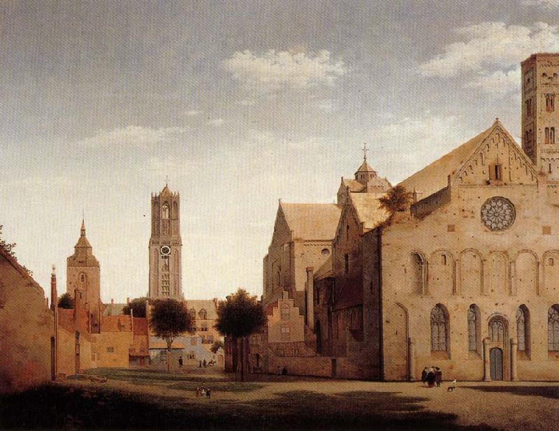 Pieter Jansz Saenredam St Mary's Square and St Mary's Church at Utrecht