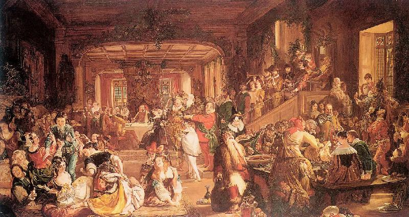Maclise, Daniel Merry Christmas in the Baron's Hall