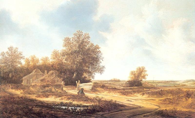 Moscher, Jacob van Dune Landscape with Farmhouse