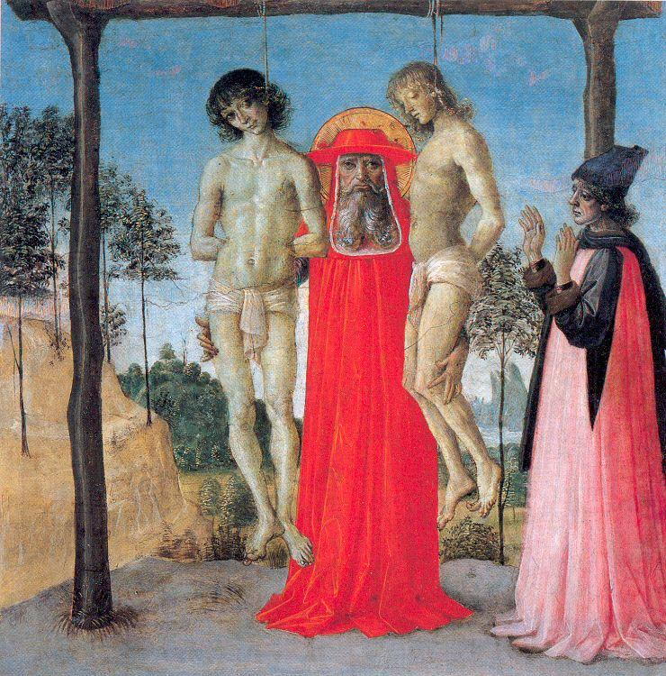 PERUGINO, Pietro St. Jerome Supporting Two Men on the Gallows