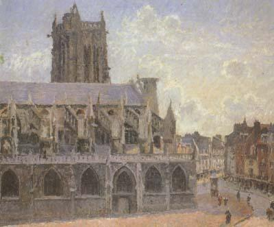 Camille Pissaro The Church of St.Jacques at Dieppe (san08)