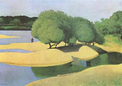 Felix  Vallotton Sandbanks on the Loire (mk09)