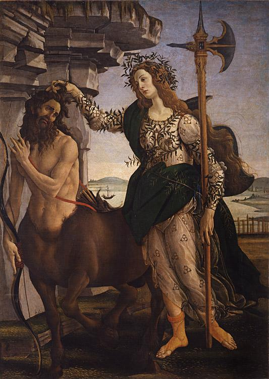 Sandro Botticelli Pallas and the Centaur (mk08)