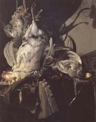 Aelst, Willem van Still Life of Dead Birds and Hunting Weapons (mk14)