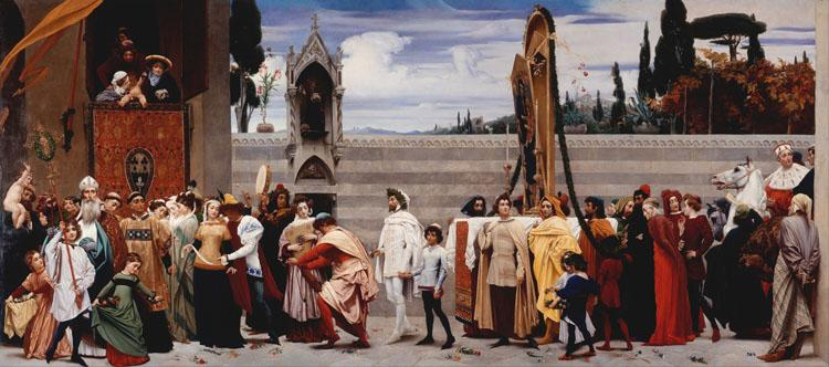 Lord Frederic Leighton Cimabue's Madonna being carried through the Streets of Florence (mk25)