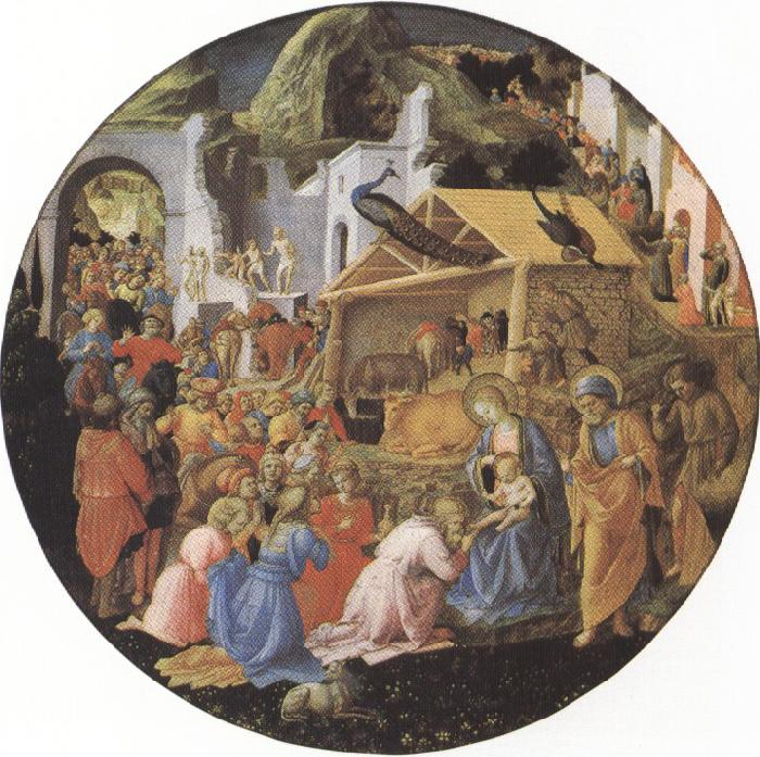 Sandro Botticelli filippo lippi,Adoration of the Magi (mk36)