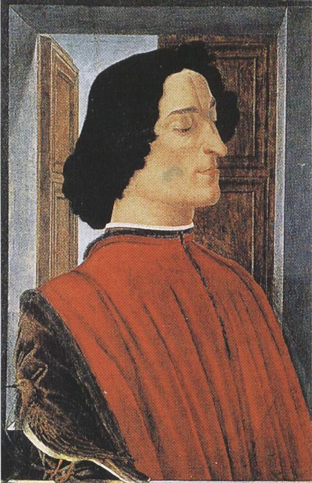 Sandro Botticelli Portrait of Giuliano de'Medici (mk36)