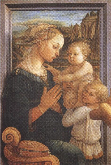 Sandro Botticelli Filippo Lippi.Madonna with Child and Angels or Uffizi Madonna (mk36)